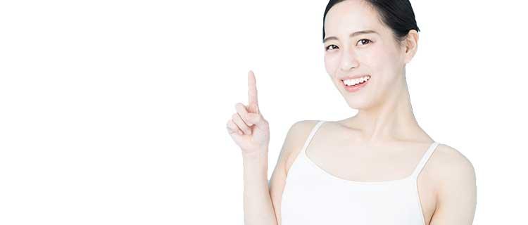 SSC脱毛の注意点を説明する女性