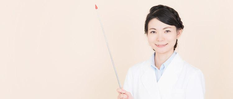 VIOラインを医療脱毛するクリニックを選ぶポイントを紹介する指を立ててポイントと言っている女性