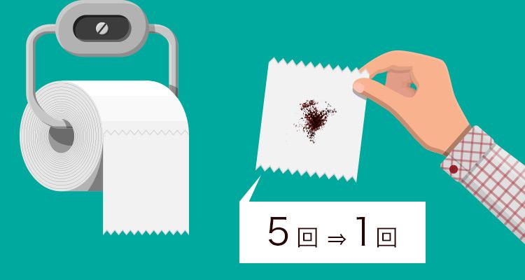 脱毛でお尻を拭く回数は平均5回から1回に!
